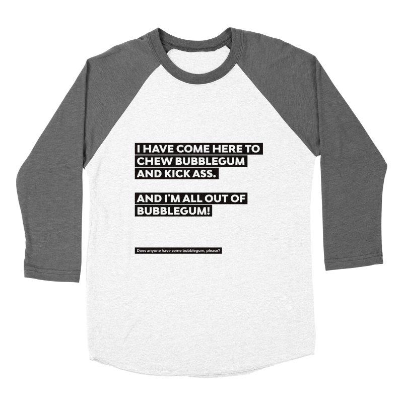 Kick Ass Bubblegum Women's Baseball Triblend Longsleeve T-Shirt by agostinho's Artist Shop