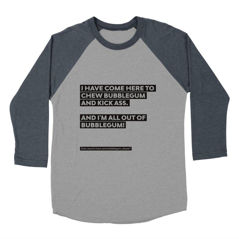 Kick Ass Bubblegum Women's Baseball Triblend T-Shirt by agostinho's Artist Shop