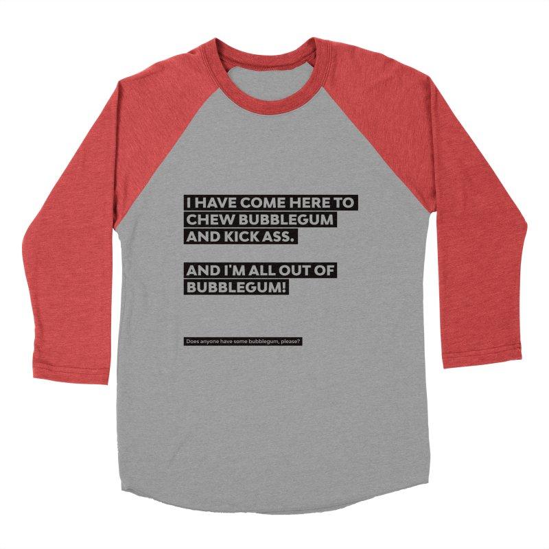 Kick Ass Bubblegum Men's Baseball Triblend Longsleeve T-Shirt by agostinho's Artist Shop