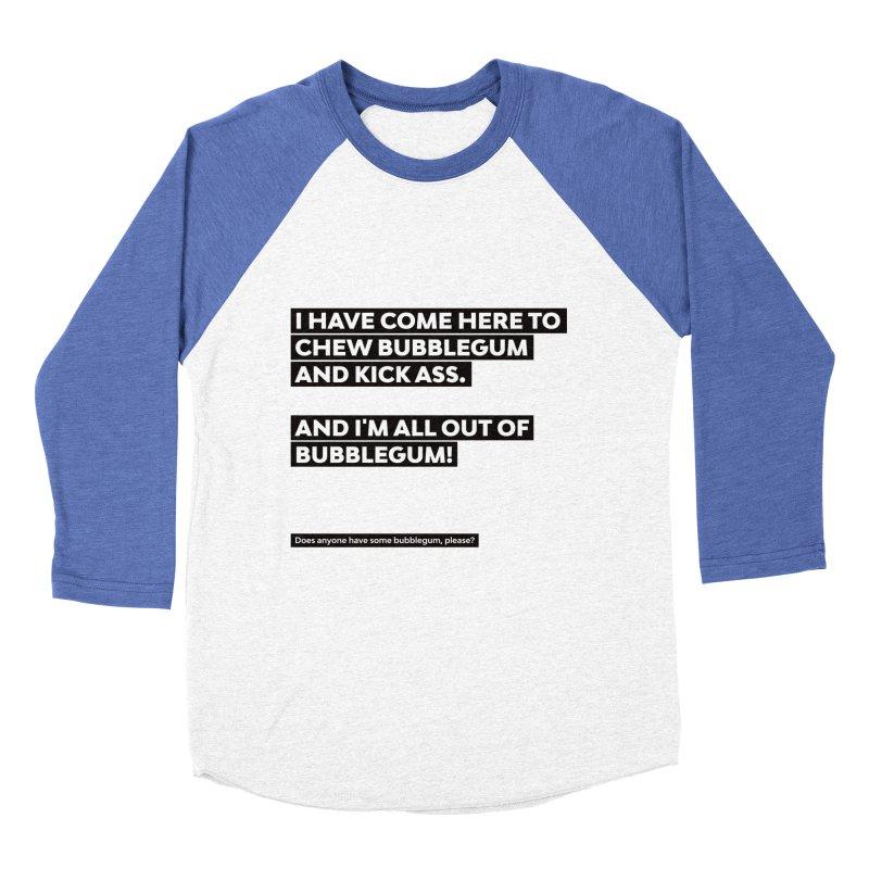 Kick Ass Bubblegum Men's Baseball Triblend T-Shirt by agostinho's Artist Shop