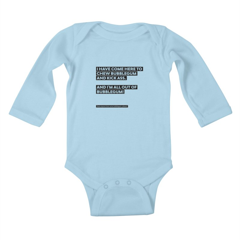 Kick Ass Bubblegum Kids Baby Longsleeve Bodysuit by agostinho's Artist Shop