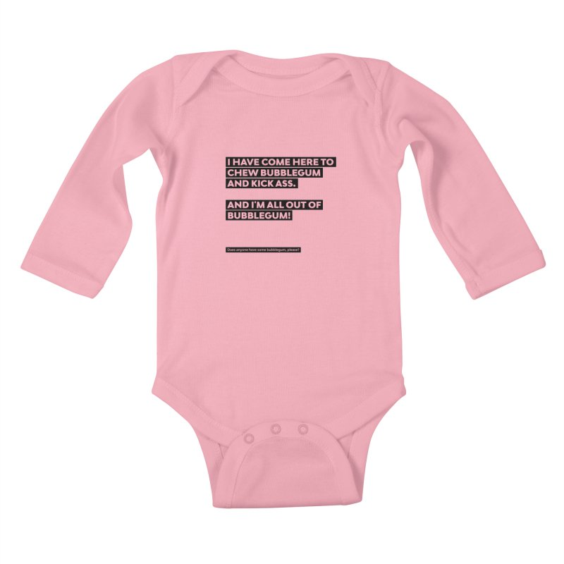 Kick Ass Bubblegum Kids Baby Longsleeve Bodysuit by agostinho's Artist Shop