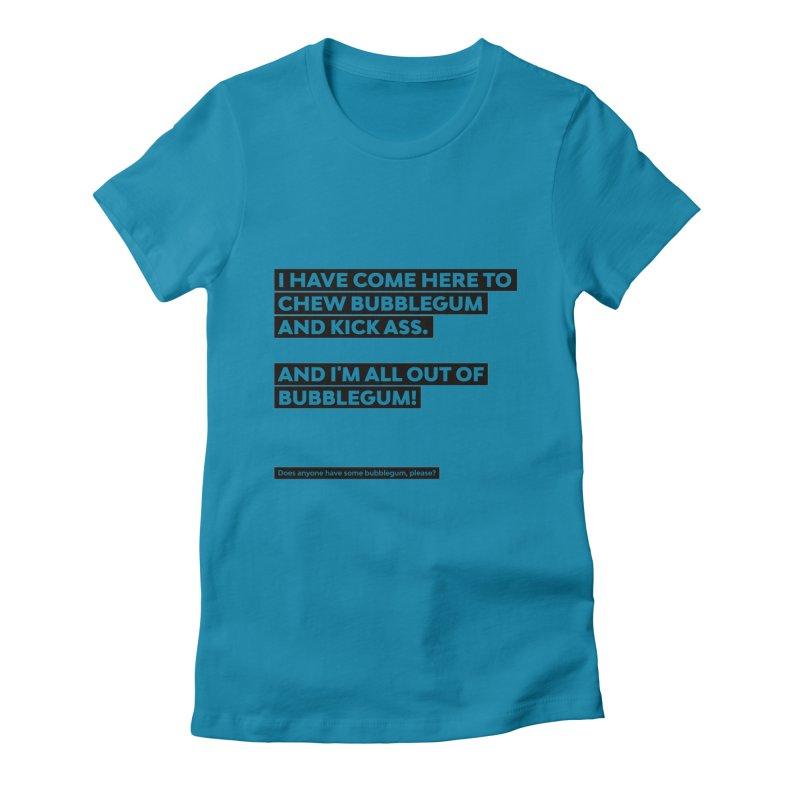 Kick Ass Bubblegum Women's Fitted T-Shirt by agostinho's Artist Shop