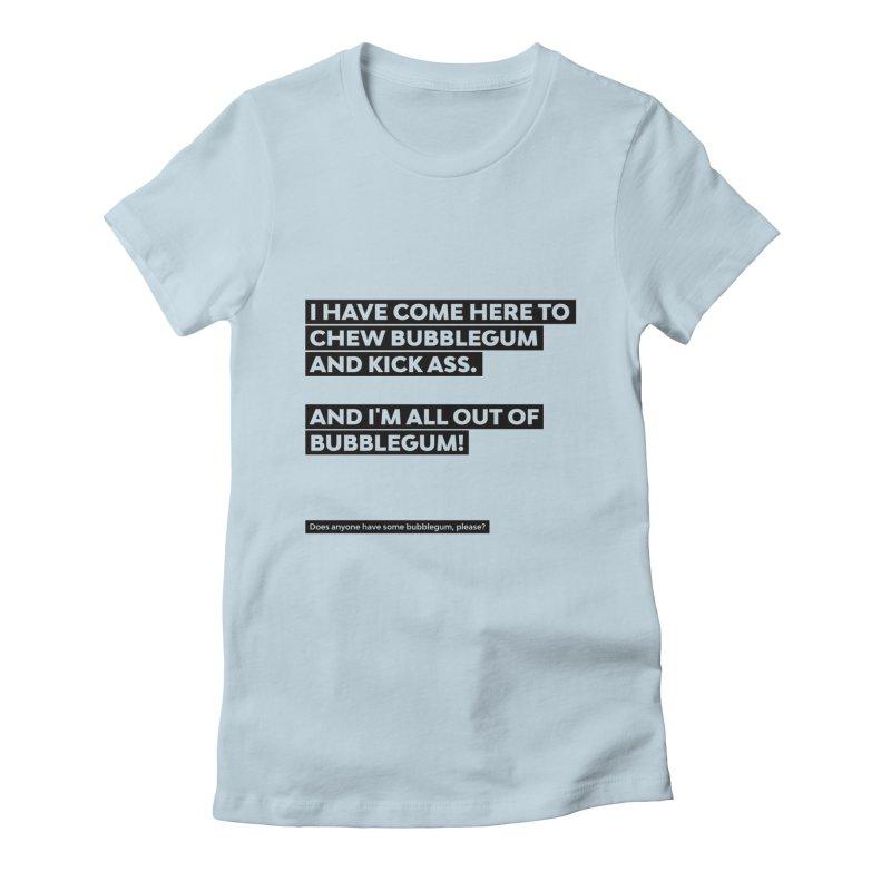 Kick Ass Bubblegum Women's T-Shirt by agostinho's Artist Shop