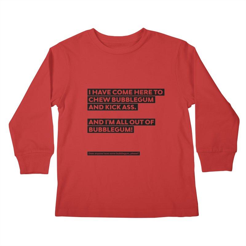 Kick Ass Bubblegum Kids Longsleeve T-Shirt by agostinho's Artist Shop