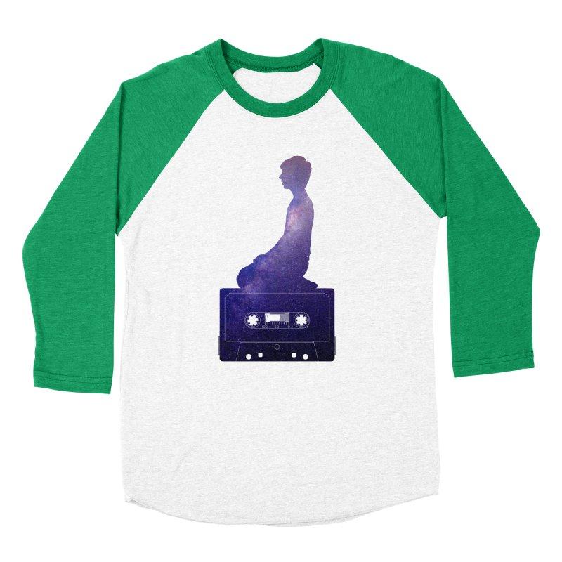 Om.usic Men's Baseball Triblend Longsleeve T-Shirt by agostinho's Artist Shop