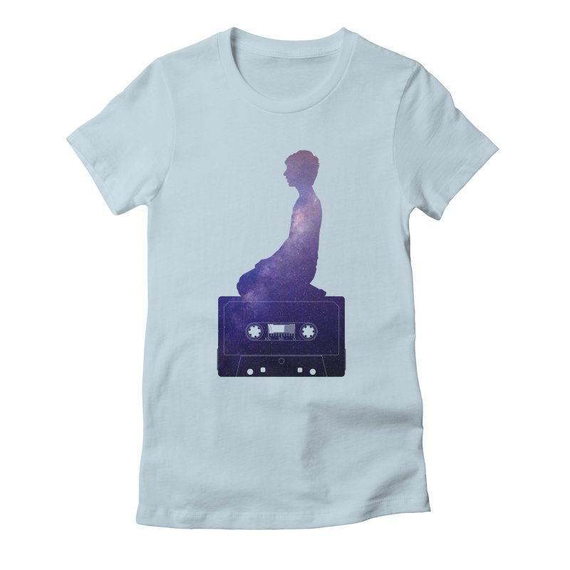 Om.usic Women's Fitted T-Shirt by agostinho's Artist Shop
