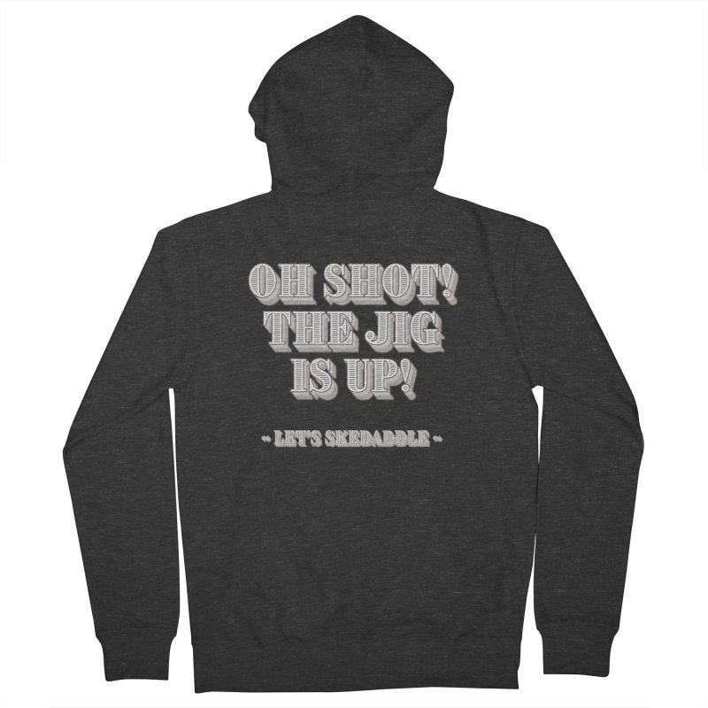 Let's skedaddle! Men's French Terry Zip-Up Hoody by agostinho's Artist Shop