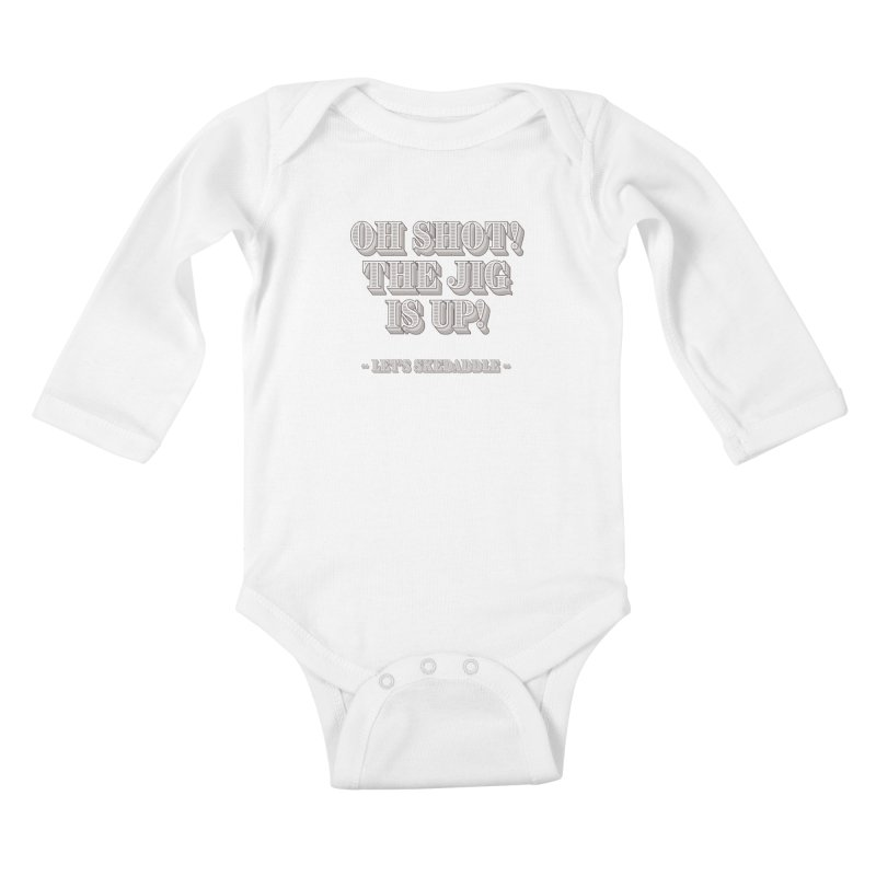 Let's skedaddle! Kids Baby Longsleeve Bodysuit by agostinho's Artist Shop