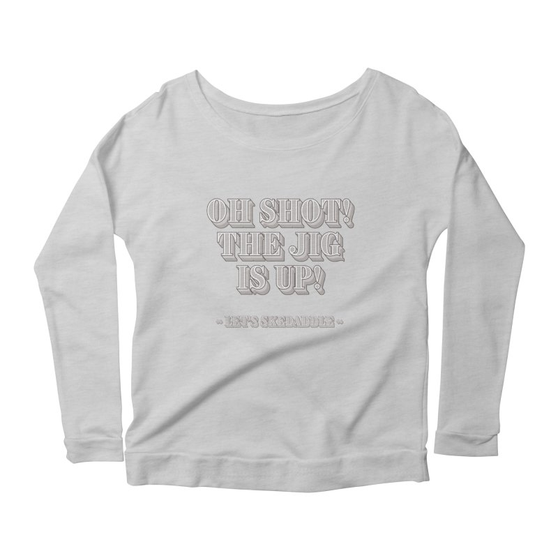 Let's skedaddle! Women's Longsleeve Scoopneck  by agostinho's Artist Shop