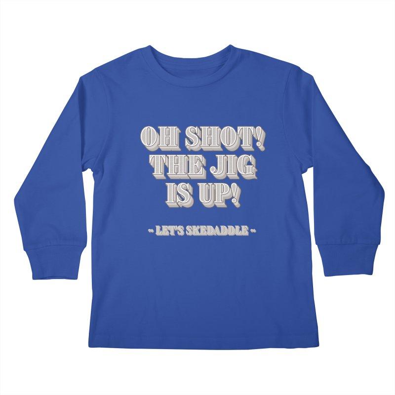 Let's skedaddle! Kids Longsleeve T-Shirt by agostinho's Artist Shop