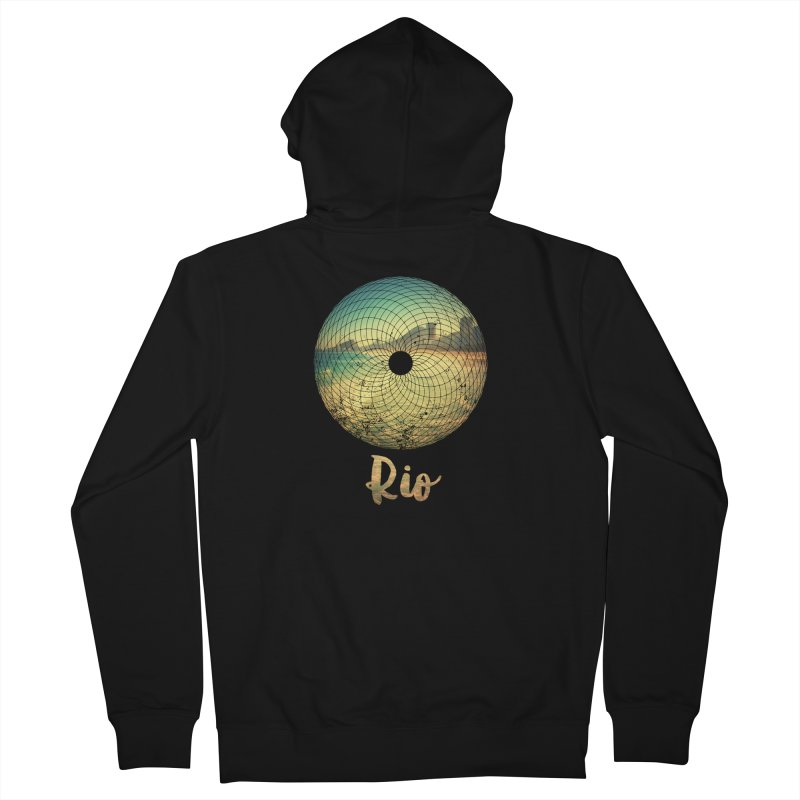 Rio Men's Zip-Up Hoody by agostinho's Artist Shop