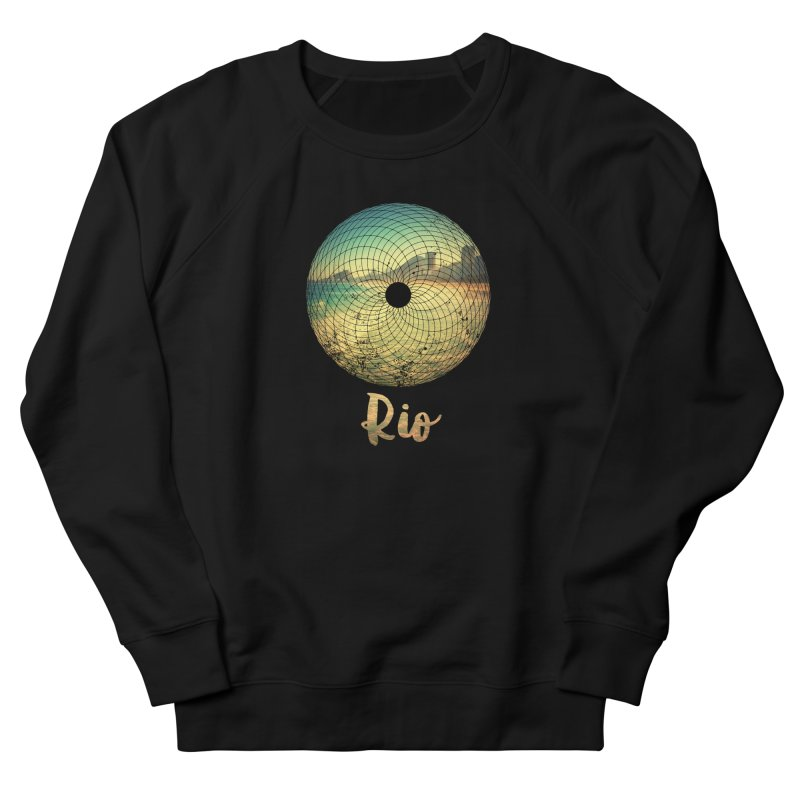 Rio Men's French Terry Sweatshirt by agostinho's Artist Shop