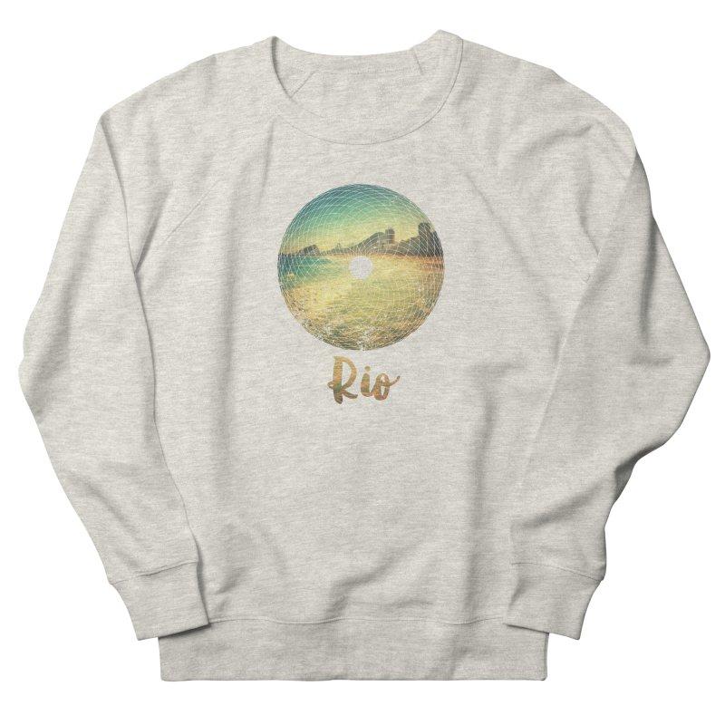 Rio Men's French Terry Sweatshirt by agostinho's Artist Shop