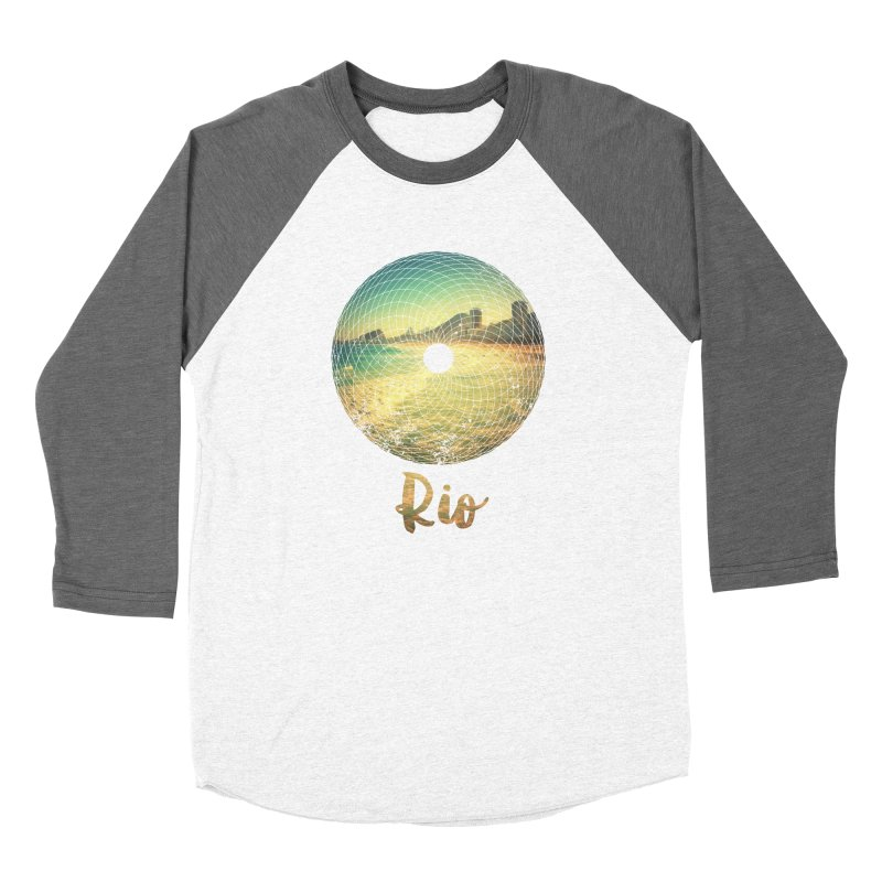 Rio Women's Baseball Triblend T-Shirt by agostinho's Artist Shop