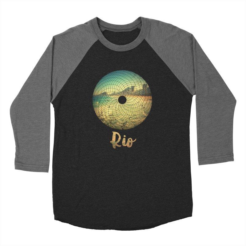 Rio Men's Baseball Triblend Longsleeve T-Shirt by agostinho's Artist Shop