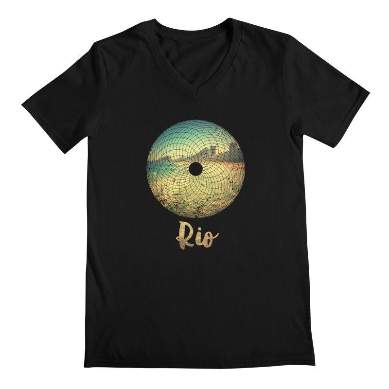 Rio Men's Regular V-Neck by agostinho's Artist Shop