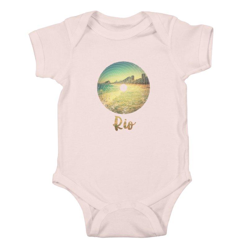 Rio Kids Baby Bodysuit by agostinho's Artist Shop
