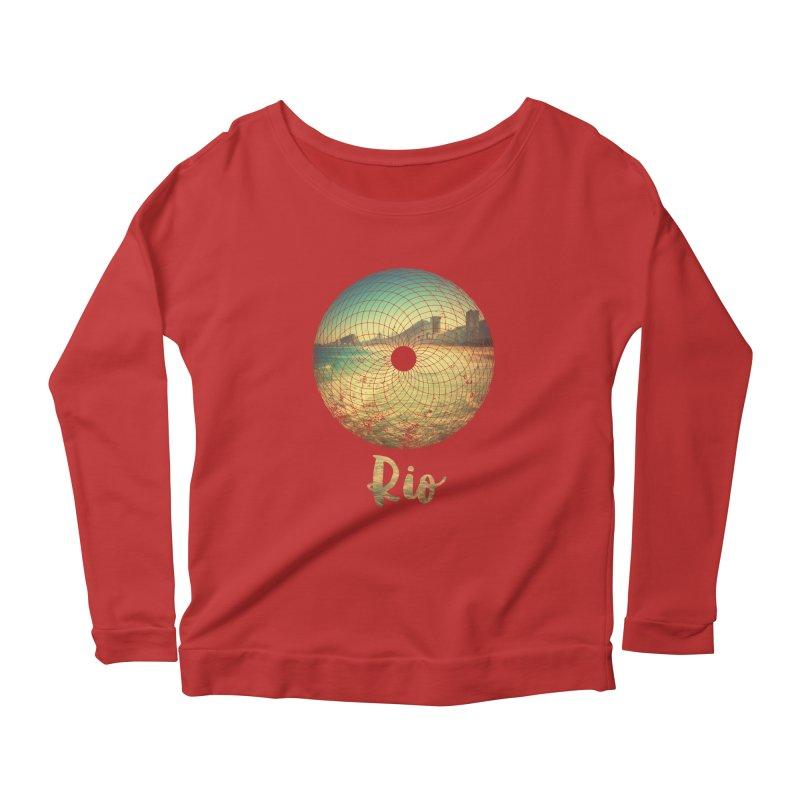 Rio Women's Scoop Neck Longsleeve T-Shirt by agostinho's Artist Shop