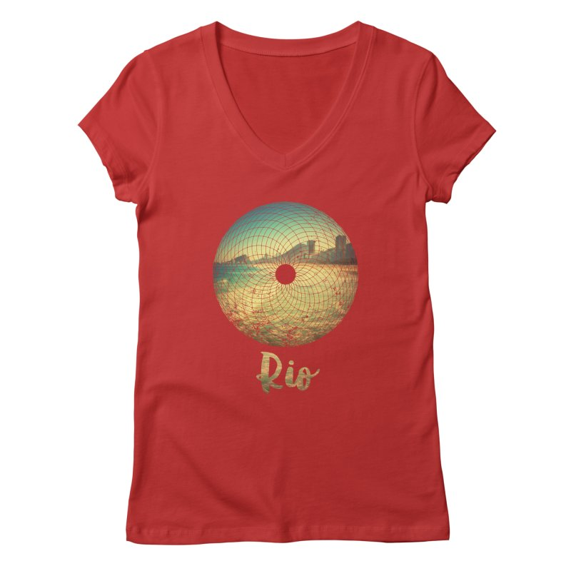 Rio Women's V-Neck by agostinho's Artist Shop