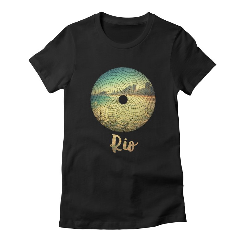 Rio Women's Fitted T-Shirt by agostinho's Artist Shop