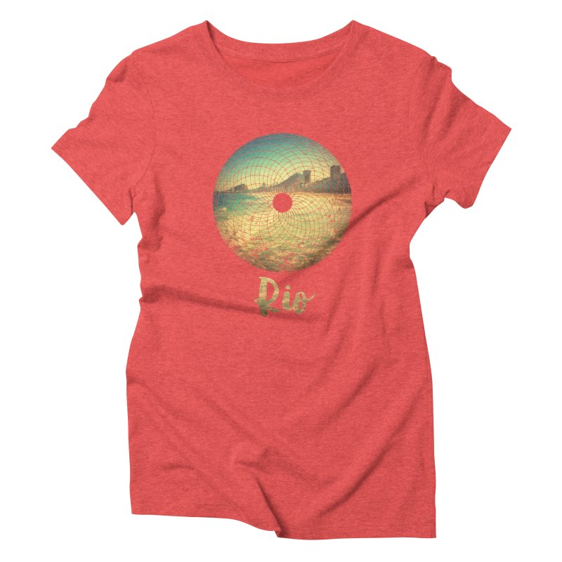 Rio Women's Triblend T-Shirt by agostinho's Artist Shop