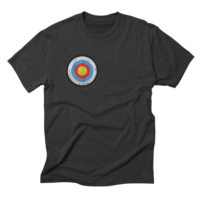 Target Men's Triblend T-Shirt by agostinho's Artist Shop