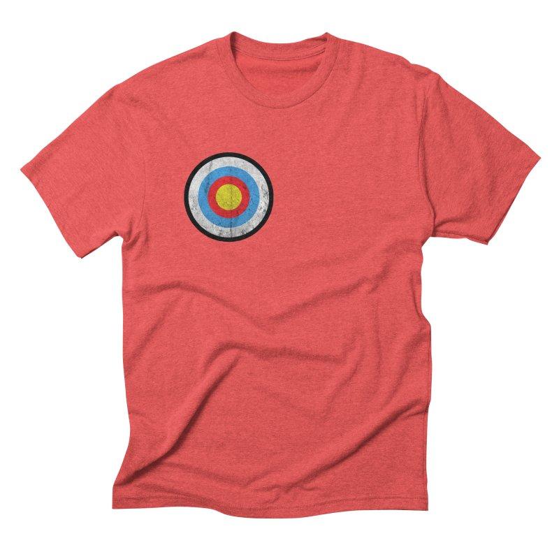Target Men's Triblend T-Shirt by agostinho's Artist Shop