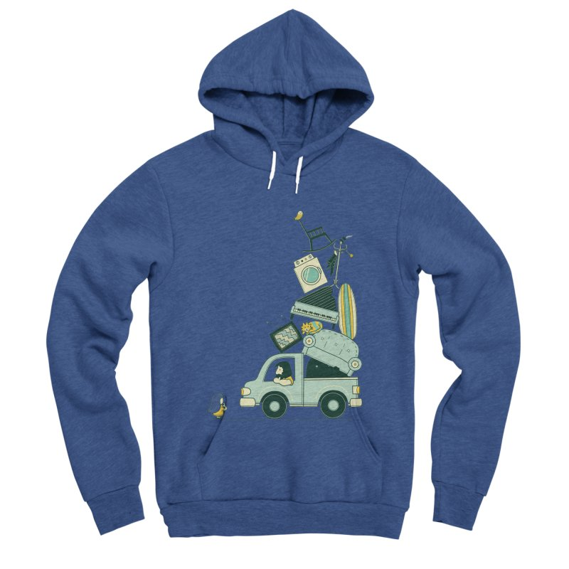 There's still room at the top Men's Sponge Fleece Pullover Hoody by agrimony // Aaron Thong