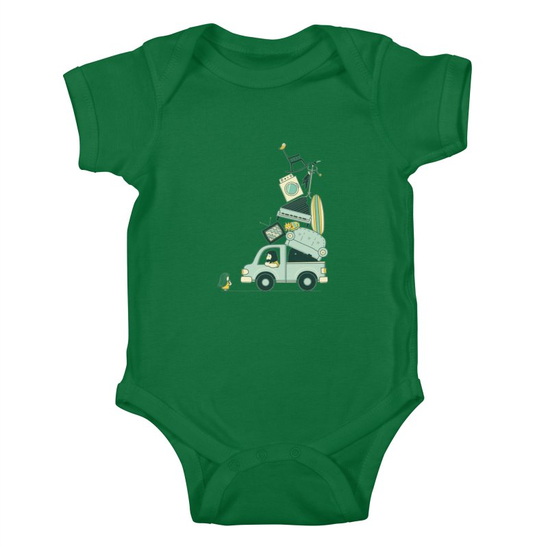 There's still room at the top Kids Baby Bodysuit by agrimony // Aaron Thong