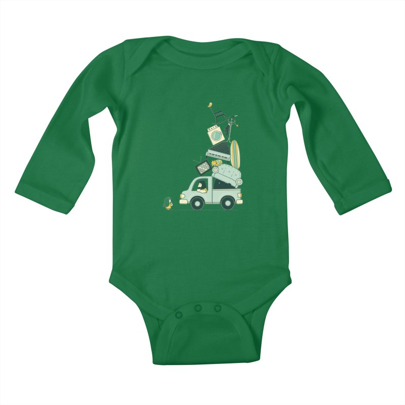 There's still room at the top Kids Baby Longsleeve Bodysuit by agrimony // Aaron Thong
