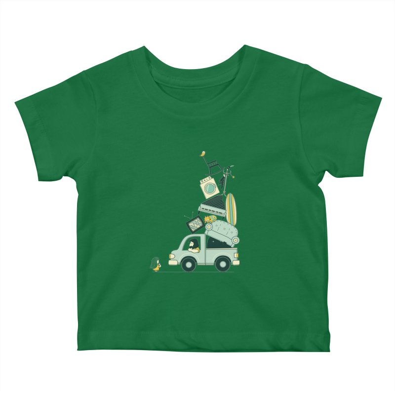 There's still room at the top Kids Baby T-Shirt by agrimony // Aaron Thong