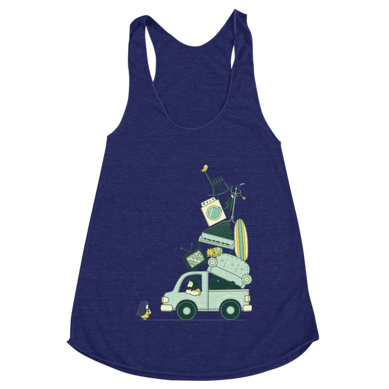 There's still room at the top Women's Racerback Triblend Tank by agrimony // Aaron Thong