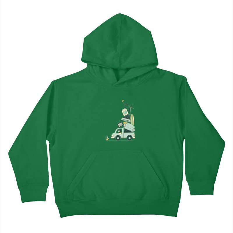 There's still room at the top Kids Pullover Hoody by agrimony // Aaron Thong
