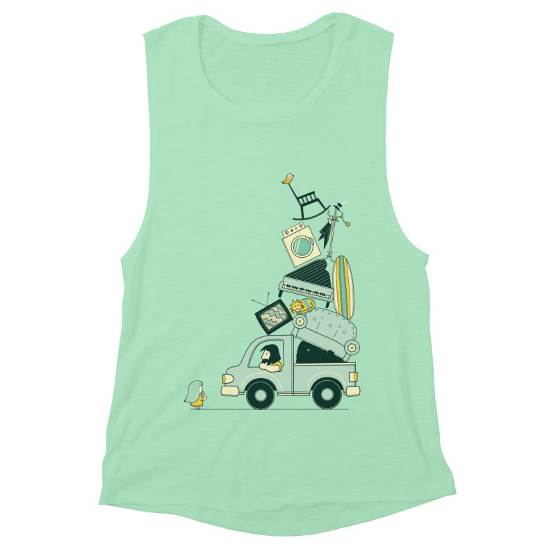 There's still room at the top Women's Muscle Tank by agrimony // Aaron Thong