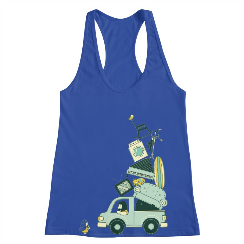 There's still room at the top Women's Racerback Tank by agrimony // Aaron Thong