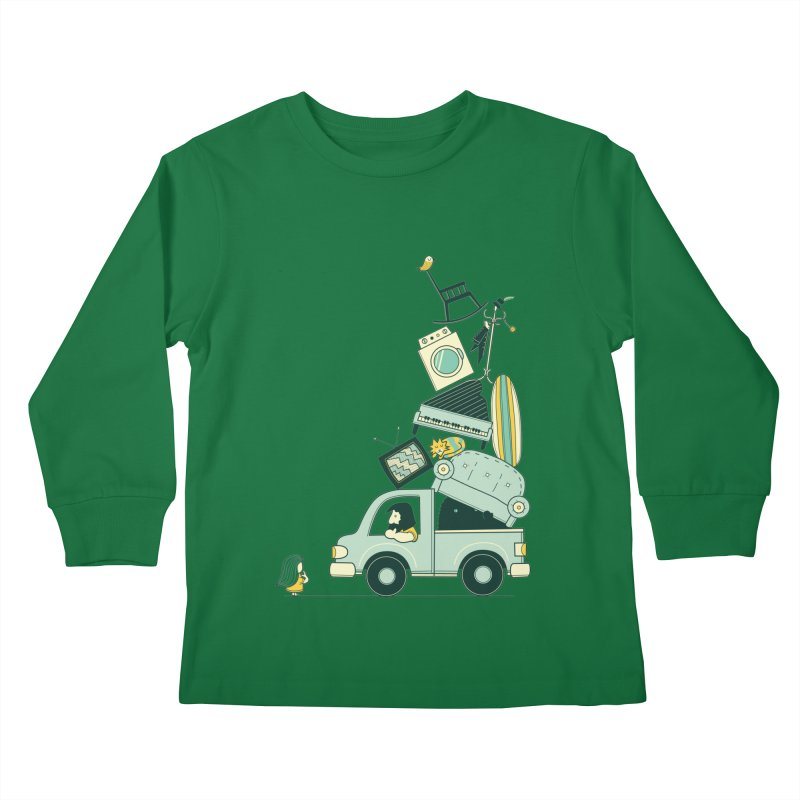 There's still room at the top Kids Longsleeve T-Shirt by agrimony // Aaron Thong