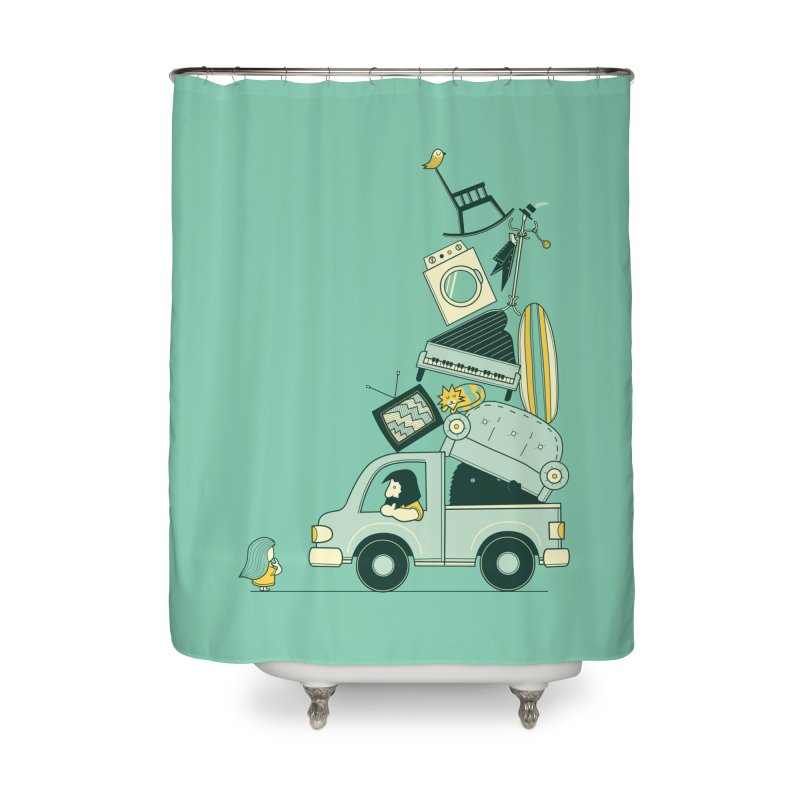 There's still room at the top Home Shower Curtain by agrimony // Aaron Thong