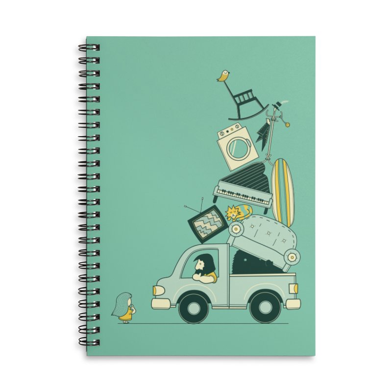 There's still room at the top Accessories Lined Spiral Notebook by agrimony // Aaron Thong