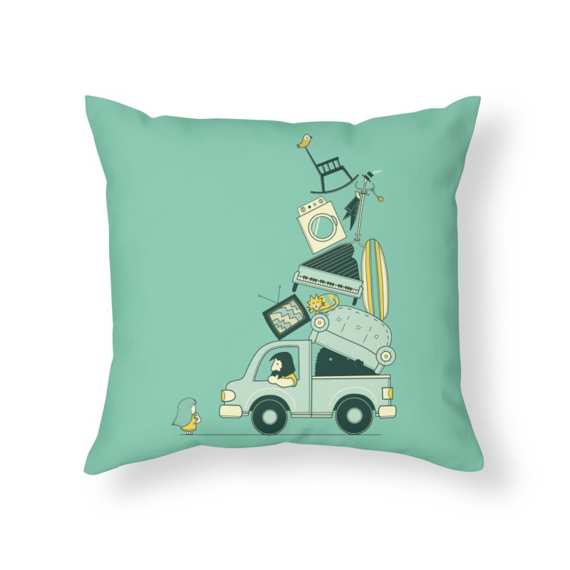 There's still room at the top Home Throw Pillow by agrimony // Aaron Thong