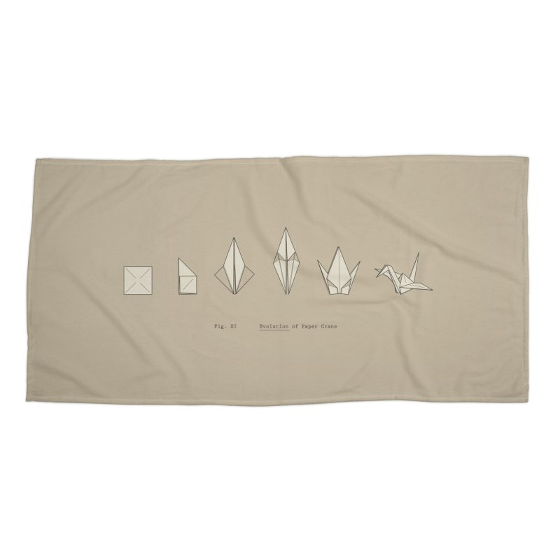 Evolution of Paper Crane Accessories Beach Towel by agrimony // Aaron Thong
