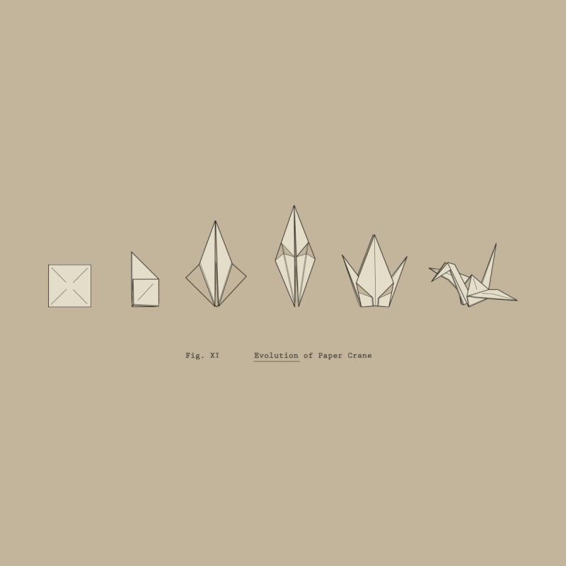 Evolution of Paper Crane by agrimony // Aaron Thong