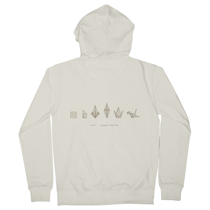 Evolution of Paper Crane Men's French Terry Zip-Up Hoody by agrimony // Aaron Thong