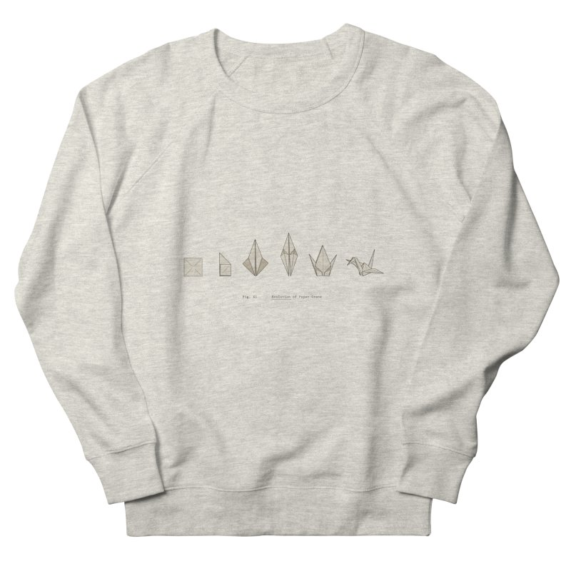 Evolution of Paper Crane Women's French Terry Sweatshirt by agrimony // Aaron Thong