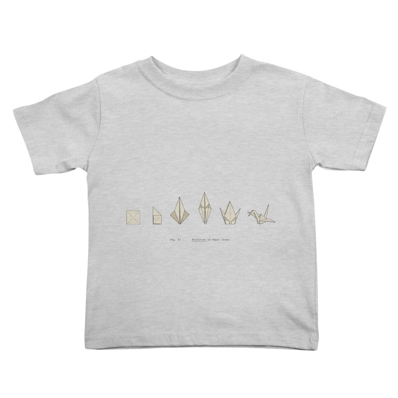 Evolution of Paper Crane Kids Toddler T-Shirt by agrimony // Aaron Thong