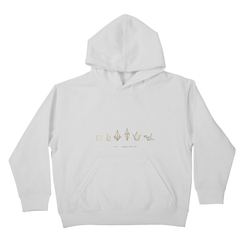 Evolution of Paper Crane Kids Pullover Hoody by agrimony // Aaron Thong