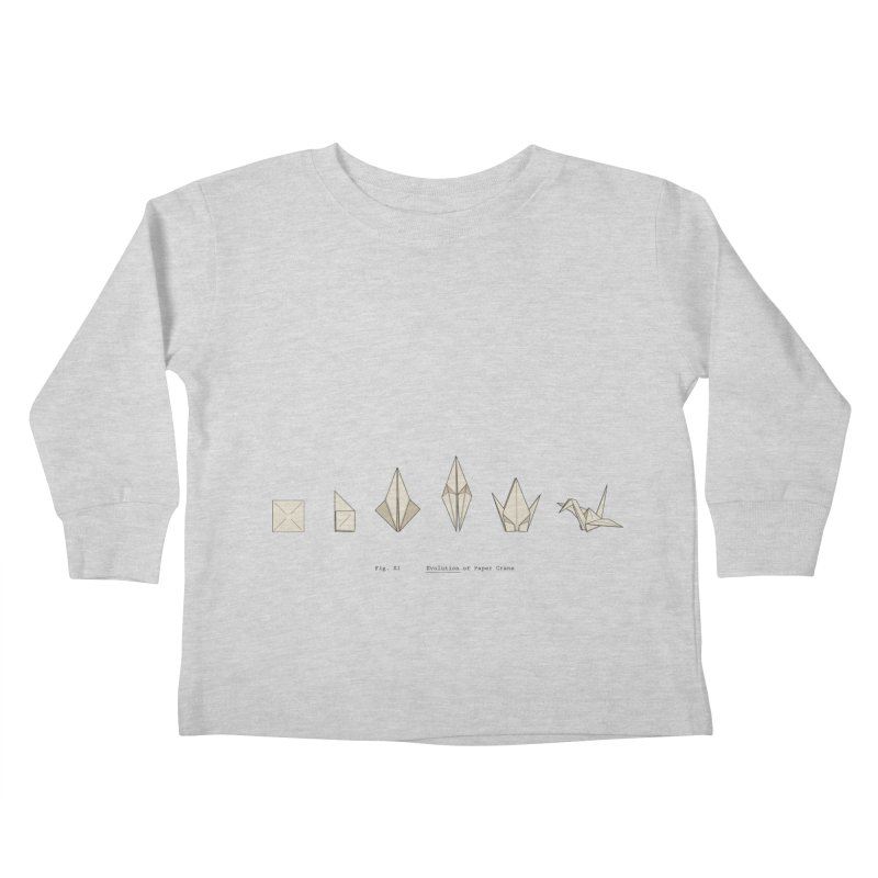 Evolution of Paper Crane Kids Toddler Longsleeve T-Shirt by agrimony // Aaron Thong