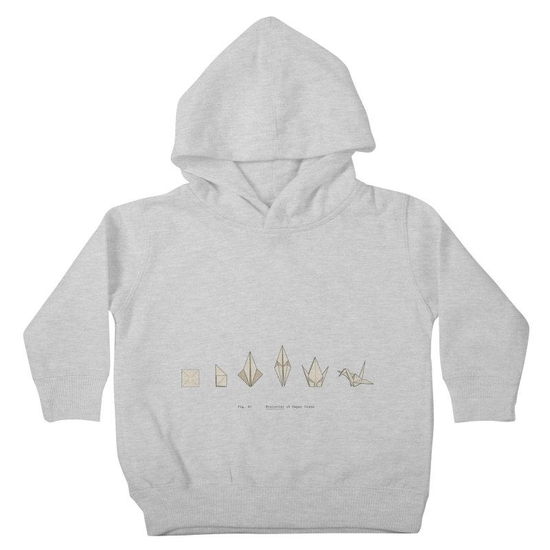 Evolution of Paper Crane Kids Toddler Pullover Hoody by agrimony // Aaron Thong