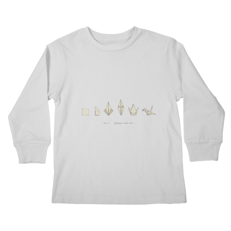 Evolution of Paper Crane Kids Longsleeve T-Shirt by agrimony // Aaron Thong