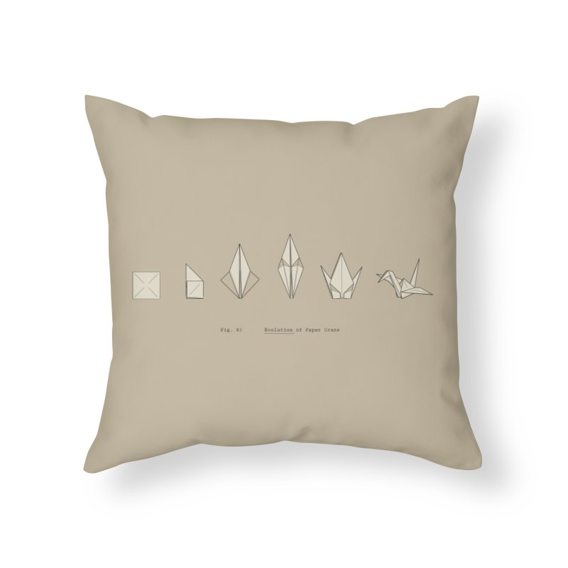 Evolution of Paper Crane Home Throw Pillow by agrimony // Aaron Thong
